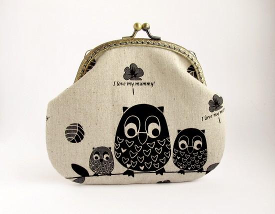 Owls family, совиная семейка, кошелек