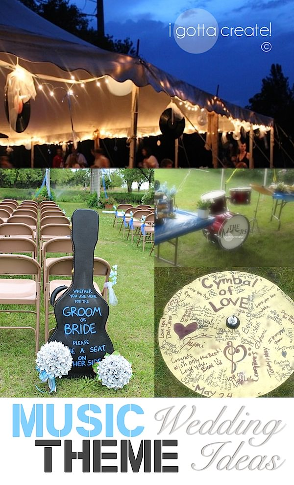I Gotta Create!: Music Theme Wedding Ideas