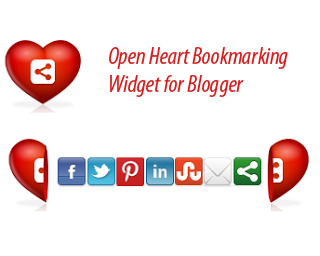 Open Heart Social Share Widget for blogger