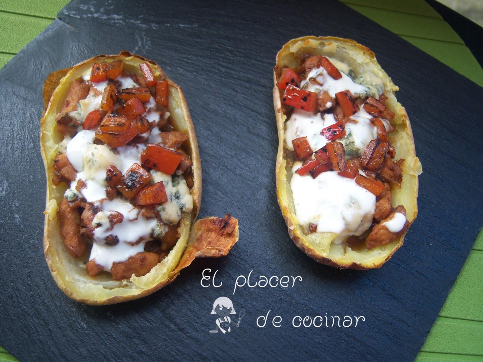 El placer de cocinar patatas asadas rellenas for Cocinar patatas rellenas