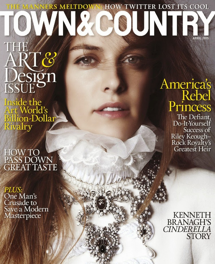 Model, Actress @ Riley Keough - Town & Country, April 2015