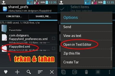 Cara curangi skor Flappy Bird di Android Root