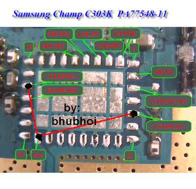 Samsung c3303k champ shorted done pa jumper