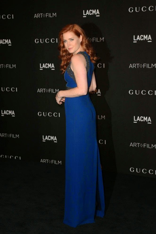 We have learned that Amy Adams is happy with her decision to attended the LACMA art at Los Angeles, USA on Saturday, November 1, 2014. And we loved it when everyone get in high spirit as the 40-year-old showed off her glowing complexion in blue long gown.