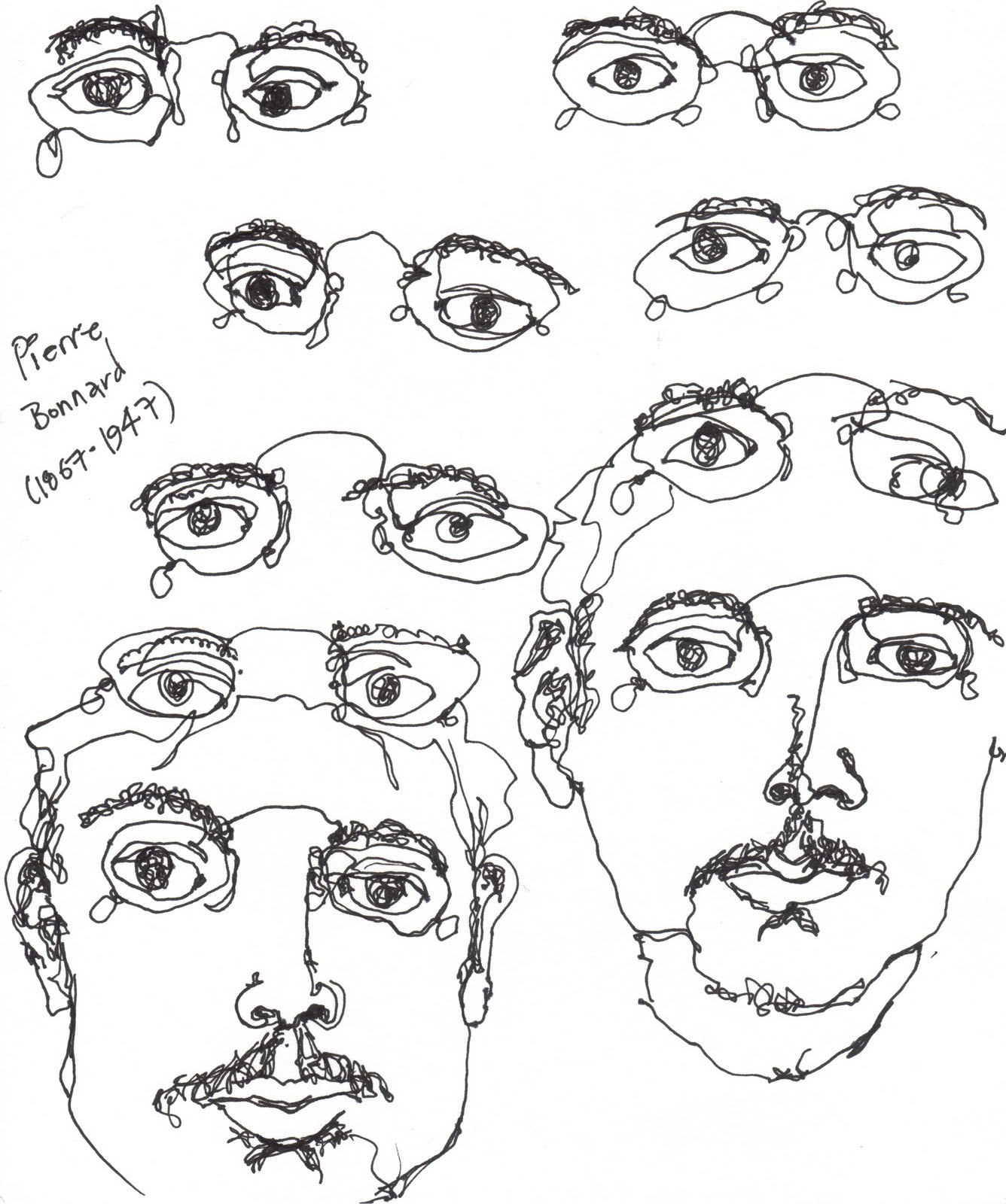 Contour Line Drawing Eye : Drawing blind contour