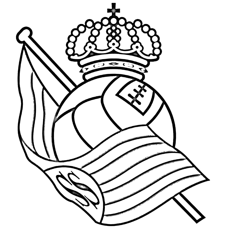 Escudo De Barcelona Para Colorear