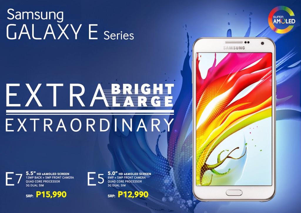 Samsung Galaxy E7 and E5