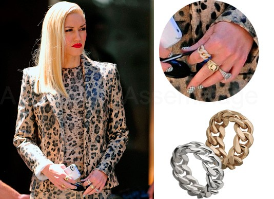 While browsing important web sites the other day, I stumbled upon some pictures of Gwen Stefani and fell in love with a curb chain ring she had on. Long story short I decided to make my own version and recycle some broken rings while at it.Now, if you can handle a torch and silver you can make a similar version with silver curb chain and some solder. If not then this is a much better way for you to create this style.  A very cute project and quite easy too!  You will need:  -  plain rings (I used some broken adjustable rings I had laying around)  - curb chain (best if the width is the same or larger than the rings)  - E6000 glue  - pliers  - toothpick and an old ring box cushion or a piece of styrofoam  You can use brand new or recycle old rings. I used some broken (their decorations had come off) adjustable ring bases. Since the chain will decorate them don't worry if there is any discoloration or chipping etc.   Start by wearing the ring you will use. Place a piece of the curb chain on it and count the links you need to use to cover the ring's surface. Use your pliers to open and detach the links needed from the rest of the chain.  Continue by placing your ring on a piece of styrofoam or an old ring box cushion to keep it stable while working on it.  Apply a little amount of glue on the toothpick and spread it along the top of the ring. Carefully put the chain links over the glue on the surface of the ring. Align the chain along the ring and apply a bit of pressure on it for a few seconds.  Let it dry for a while and you are done! You can use different metals such as bronze, copper etc. I made this in silver, bronze and neon pink by applying some nail polish on the chain.  Mix it up and enjoy! Hope you like it :)  xoxo