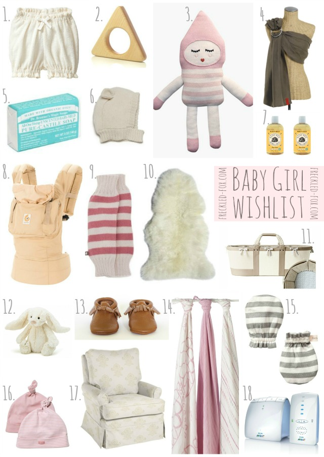 list of baby items needed