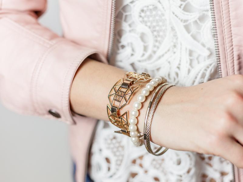 Bild Armband Gold, Perlenarmband