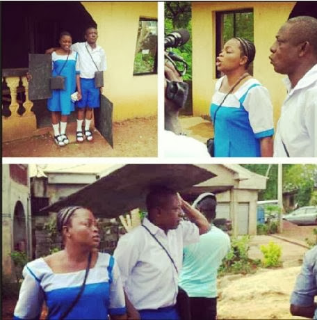 Picture | Funke Akindele and Nkem Owoh In Primary School