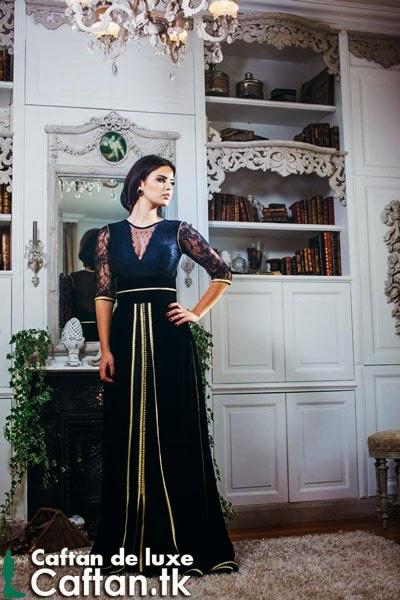 Caftan marocain noir élégant 2014
