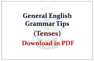 General English Grammar Tips (Tenses) PDF