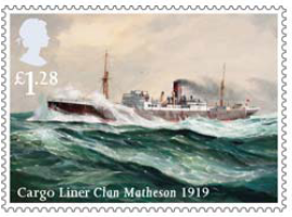 Stamp showing Cargo Liner Clan Matheson 1919.