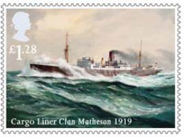 Stamp showing Cargo Liner Clan Matheson 1919.