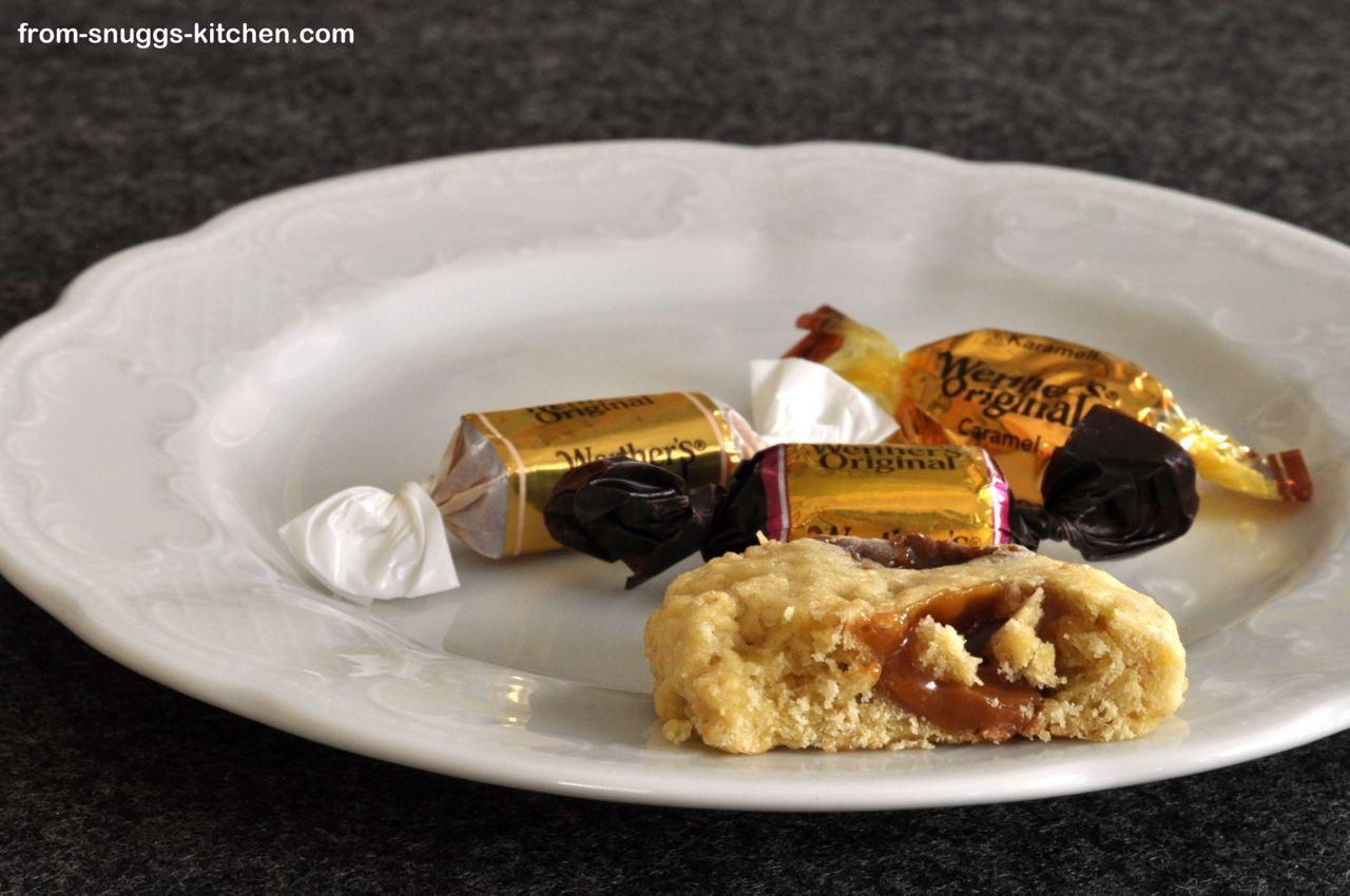Karamell-Haferflocken-Cookies