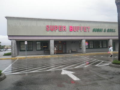 The storefront exterior of Super Buffet in the Seminole Mall.