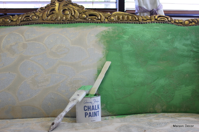 Breaking Out The Paint~on A French Gilded Sofa!!