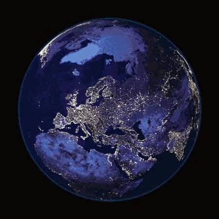 Earth from Space at Night