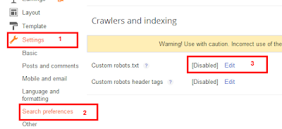 how to enable robots txt in blogger com for blogspot website beat