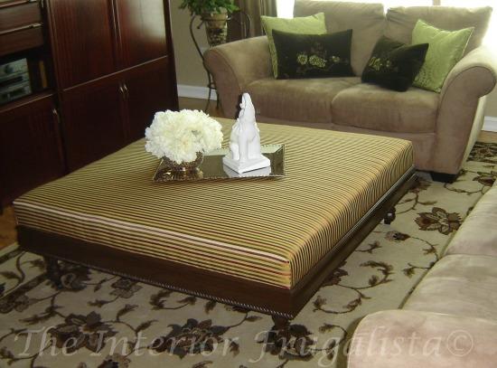 DIY Upholstered Ottoman Before