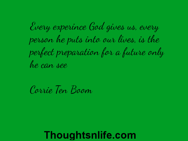 Thoughtsnlife: Every experince God gives us