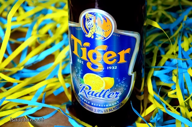 Only 2% alcohol in the Tiger Radler