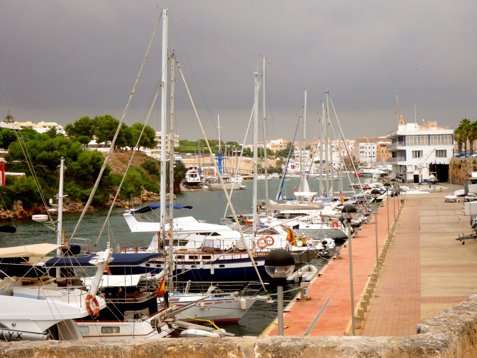 Travel Inspiration | Menorca, Spain | harbour full of small boats in town