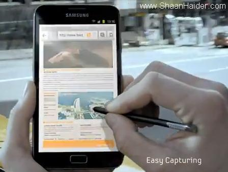 Samsung GALAXY Note : Specifications, Features & TV Ad