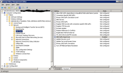 DNS Suffix Group Policy for DriectAccess OU in Active Directory