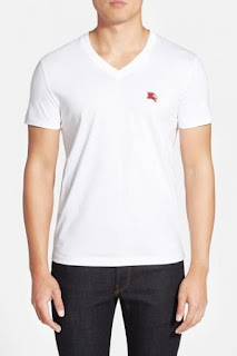 Burberry Brit 'Lindon' V-Neck Cotton T-Shirt