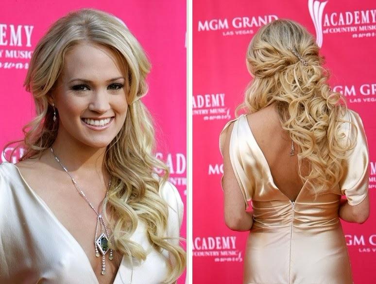 Carrie Underwood Hair Style: Half Up Half Down Hairstyles