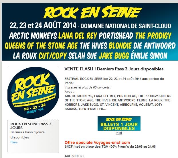 Rock En Seine Pass 3 jours