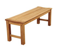 Amazonia Riverside Teak Backless Bench, 51