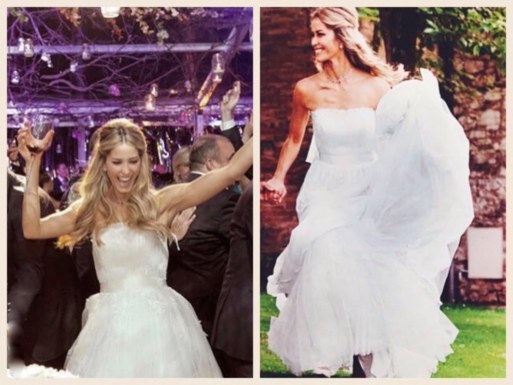 abiti da sposa vip, abito sposa elena santarelli, abiti sposa alberta ferretti