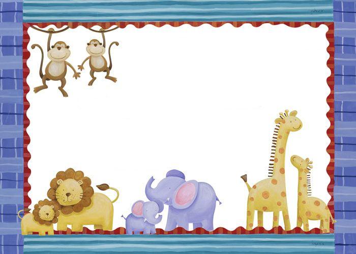 Bordes con animales para imprimir - Imagenes y dibujos para ...