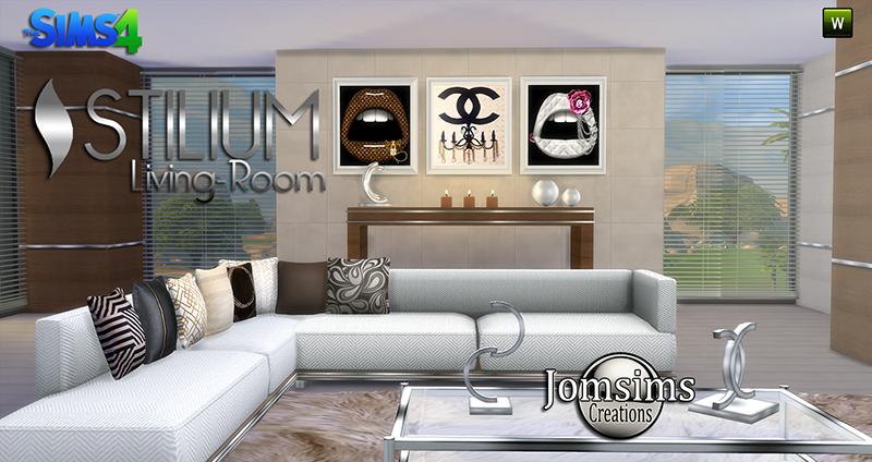 Jomsimscreations blog new stilium living room click image for Living room zones