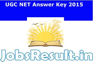 UGC NET Answer Key 2015