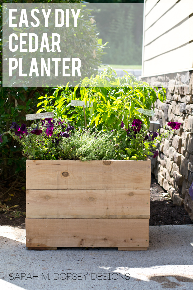 Easy DIY Cedar Planter