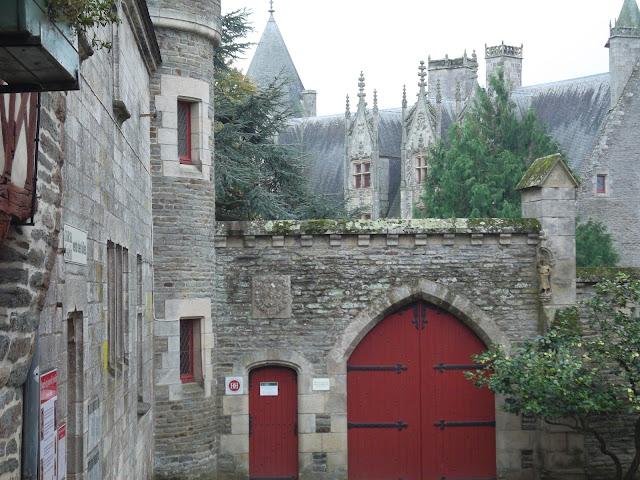 Josselin castle. Chateau de Rohan