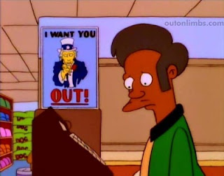 "Simpsons Much Apu About Nothing Illegal Immigration No on Proposition 24 ""No on 24"""