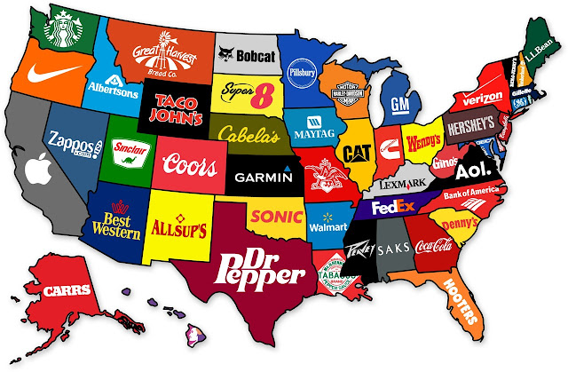 map of corporate america