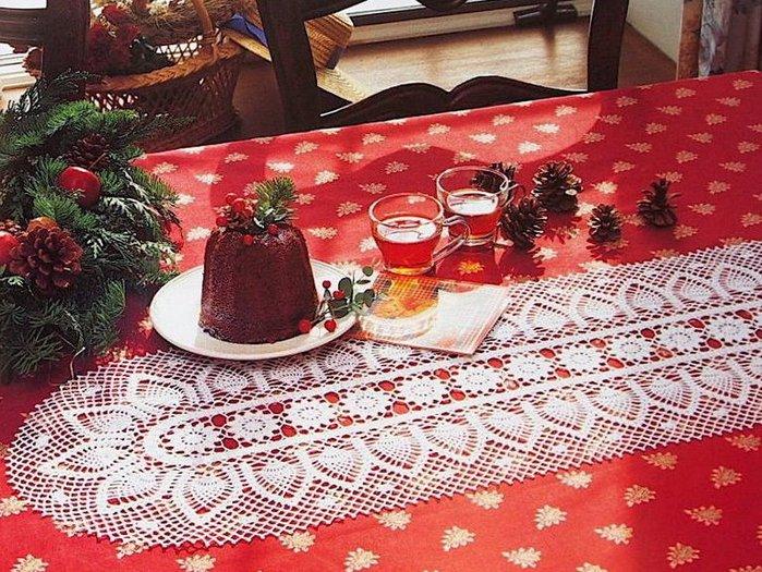 Crochet Pineapple Table Runner