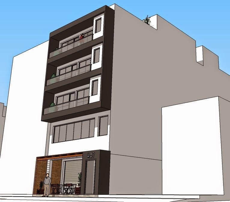 Oniria dos opciones de fachada de edificio de departamentos Departamentos de dos pisos