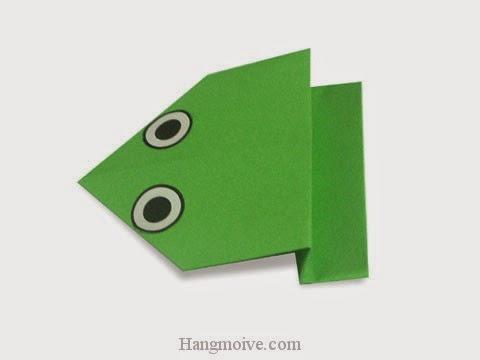 Cách gấp, xếp con ếch nhảy ngược bằng giấy origami - Video hướng dẫn xếp hình - How to make a Overturn Frog