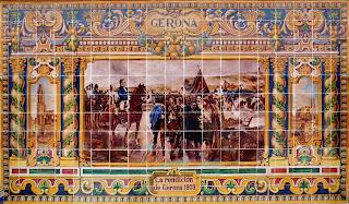 Plaza de España, Sevilla - Azulejo de Gerona (Frontal superior)