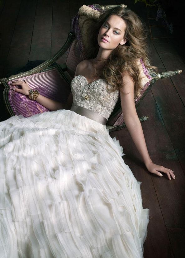 Lazaro Wedding Dresses Collection-2011