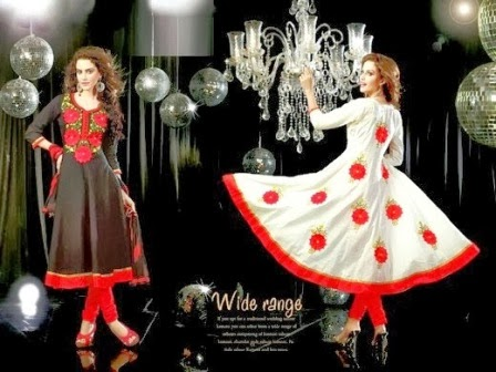 Embroidered Anarkali Frocks Designs