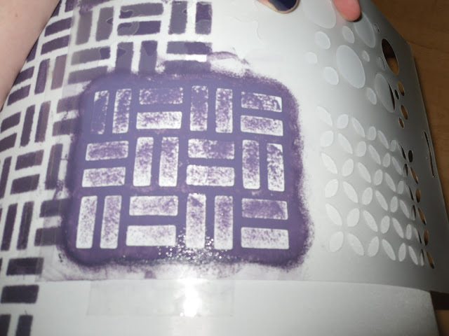 Stenciling almost done - just showing the technique.