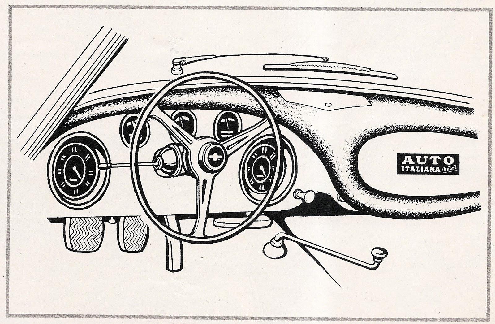 1957 maserati 3500gt dashboard